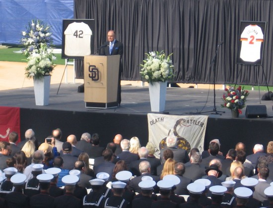 Dick Enberg remembers the late Jerry Coleman.