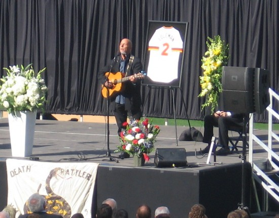 Tim Flannery sings his own composition about Jerry Coleman.