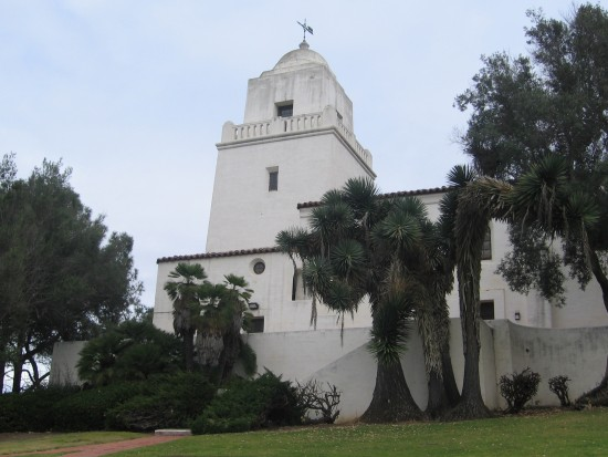 View of the old Spanish presidio in San Diego.