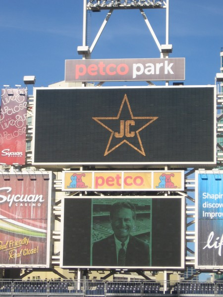 JC in a star on the scoreboard, and on next year's uniforms.