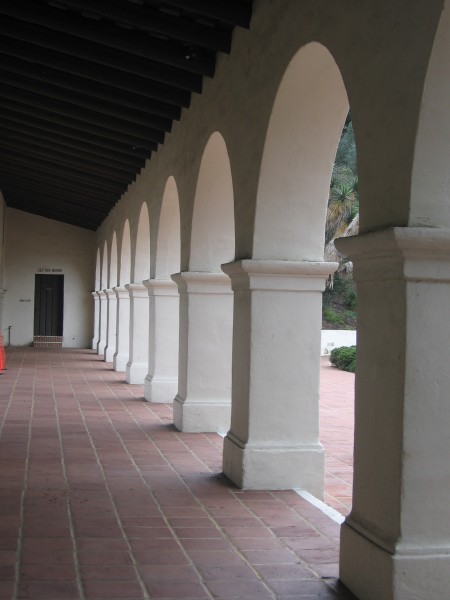 Row of Spanish Colonial style arches.