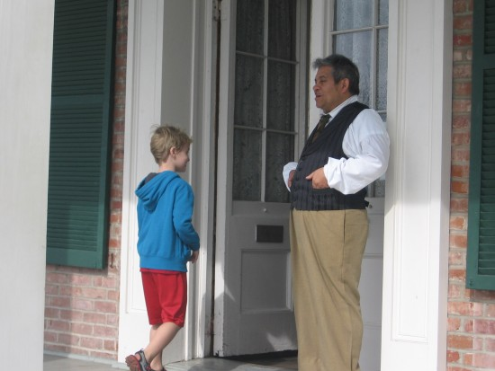 Boy ventures into supposedly haunted Whaley House.