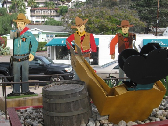 Cowboys have a gun battle in San Diego's Old Town.