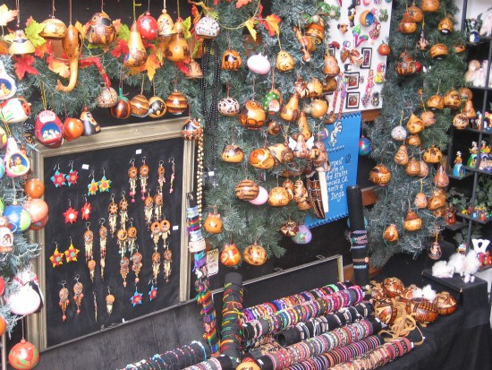 Hundreds of Mexican ornaments and trinkets.