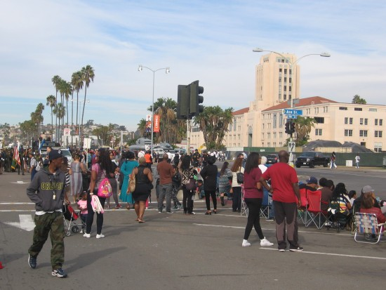 Crowd gathers for annual San Diego MLK parade.