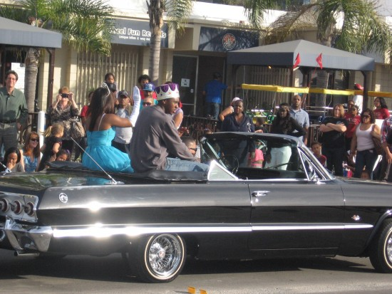 King and Queen of San Diego MLK Parade.