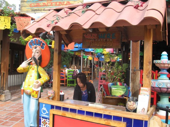 Just one of many colorful eateries along San Diego Avenue.