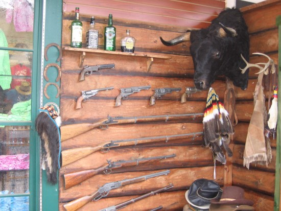 Many Western items on display in an Old Town shop.