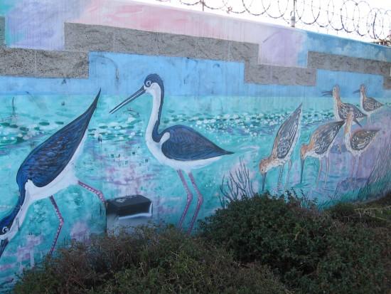 Fun mural on harbor drive in barrio logan cool san for Cesar chavez mural
