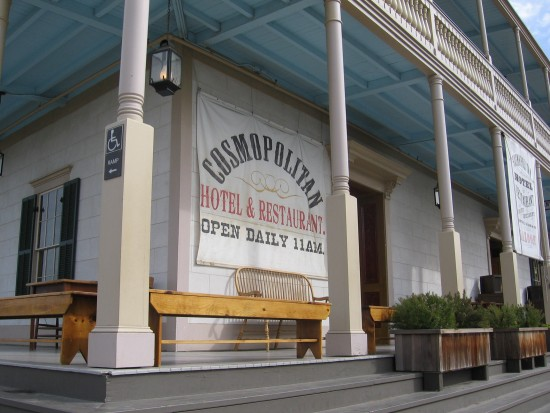 The Cosmopolitan Hotel and Restaurant.