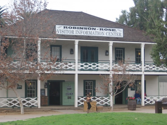 The Robinson-Rose house is the park Visitor Center.