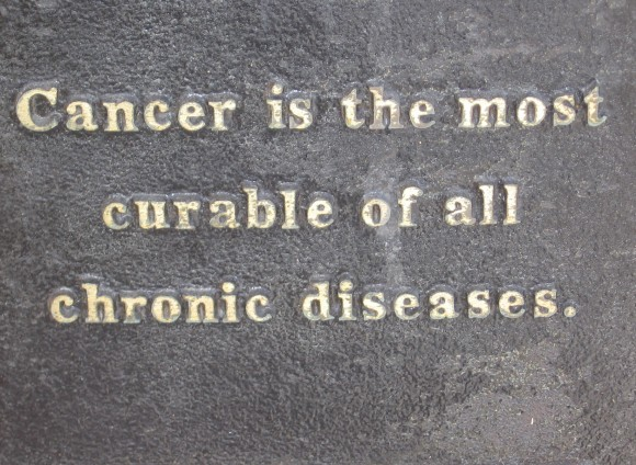 Cancer is the most curable of all chronic diseases.