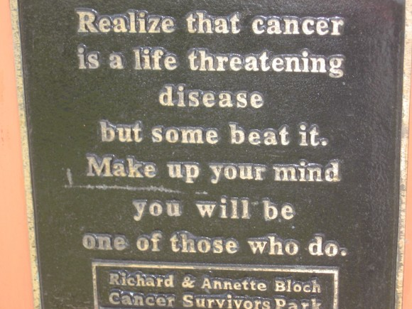 Realize that cancer is a life threatening disease but some beat it. Make up your mind you will be one of those who do.