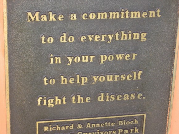 Make a commitment to do everything in your power to help yourself fight the disease.