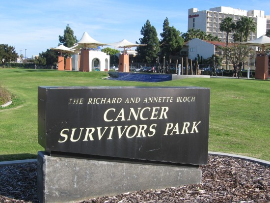 Cancer Survivors Park is located at Spanish Landing, near Lindbergh Field.