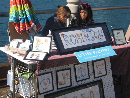 Hand painted names make memorable souvenirs.