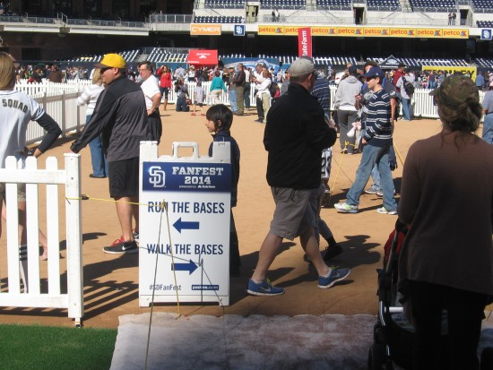 Padres fans could either walk or run the bases.