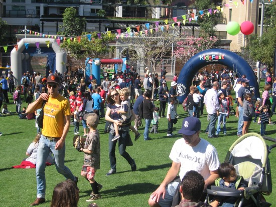 Padres Kidsfest featured lots of games and happy families.