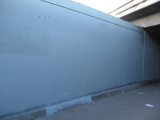 The street art has been painted over!