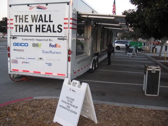 The Wall That Heals honors Vietnam War veterans.