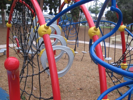 Imaginative children's playground in Balboa Park.