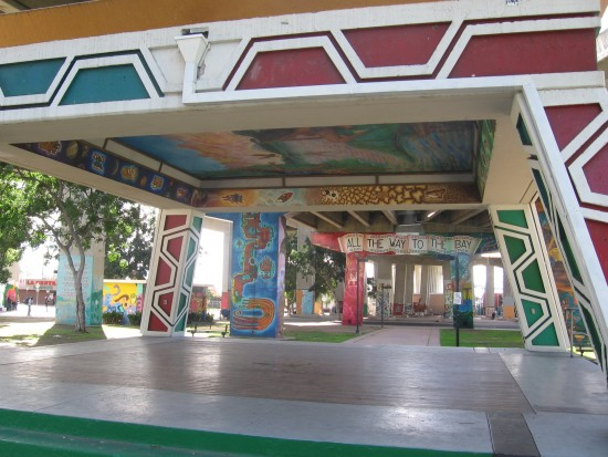 Central dance pavilion in Chicano Park.