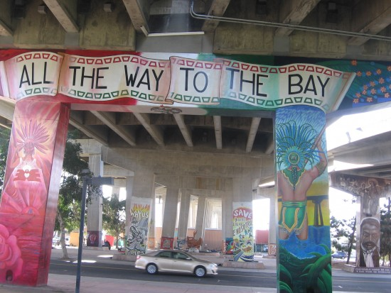 All The Way To The Bay refers to 1980 Chicano Park campaign.