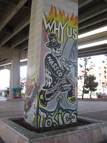 Mural protests toxic waste from nearby NASSCO shipyard.