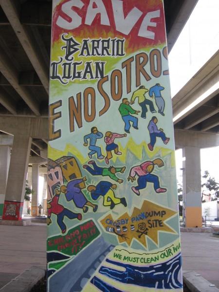 Environmental message on Barrio Logan mural.