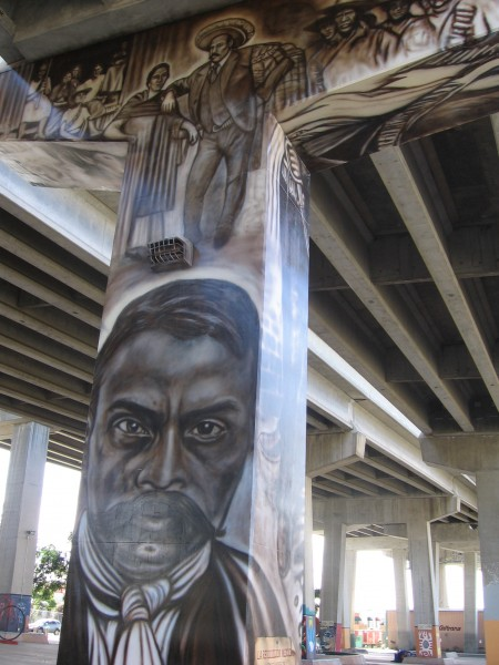 Historical figures come alive in Chicano Park.