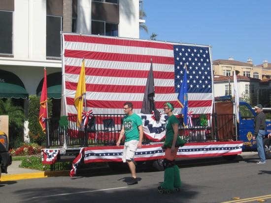 Big American Flag is ready on Sixth Avenue.
