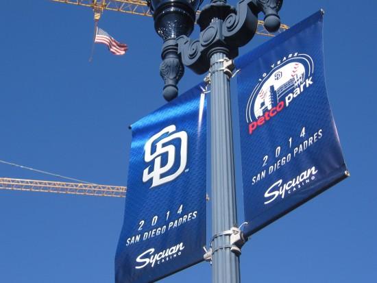 Brand new street lamp banners announce the 2014 season.