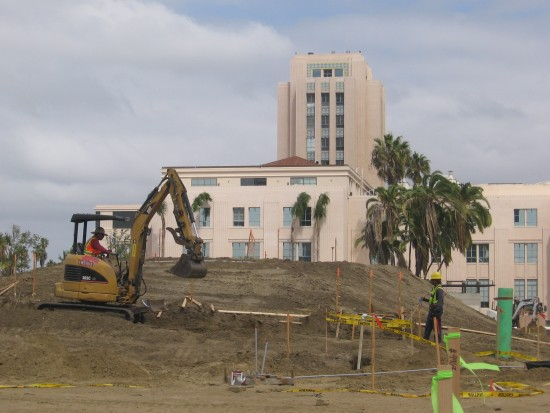 County Administration Building will have grass parks on either side.