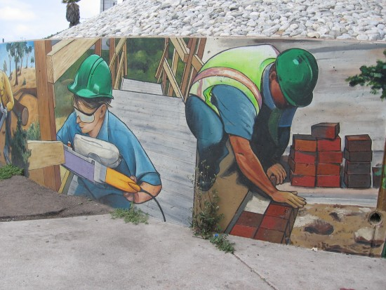 Mural depicts youth bettering San Diego's environment.