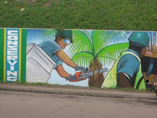 Urban Corps mural shows conservation efforts.