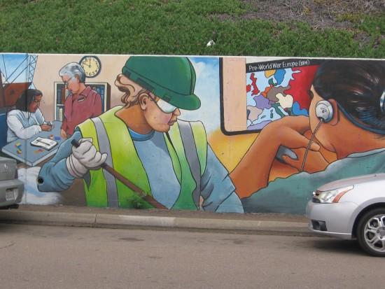 Segment of Urban Corps mural near Rosecrans and Jefferson.