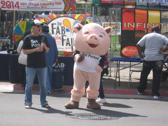 Funny pig at Padres Opening Day Block Party.