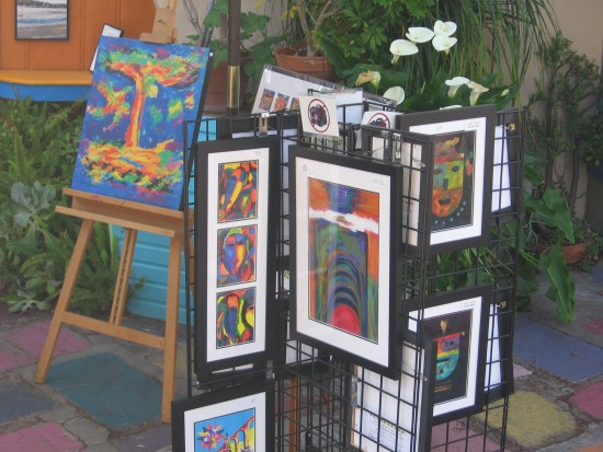 Lots of art can be bought from local San Diego artists.