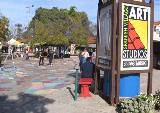 Main entrance to Balboa Park's Spanish Village.