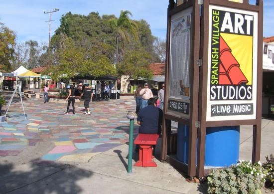 Main entrance to Balboa Park's Spanish Village.