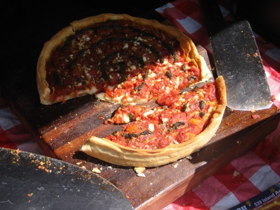 Hand-crafted pizza at Little Italy's farmers market.