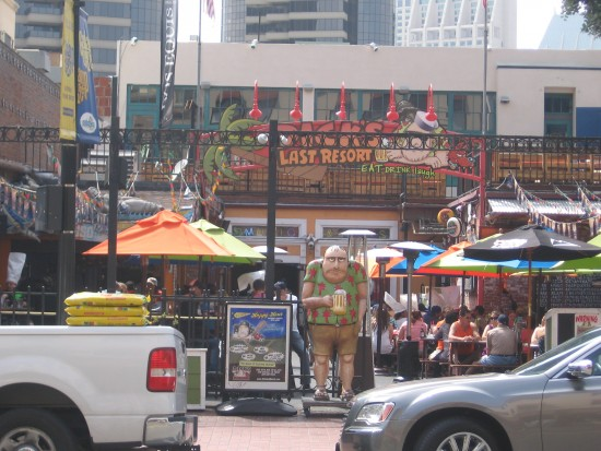 Dick's Last Resort seen from across Fourth Avenue.