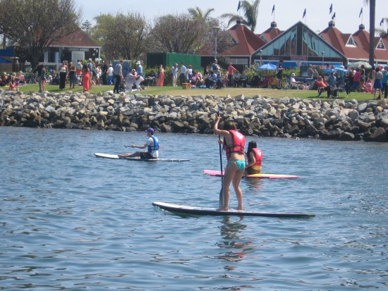 Paddleboarding just off the Coronado Ferry Landing.