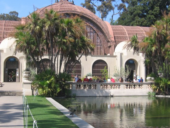 Botanical Building by reflecting pool in Balboa Park.