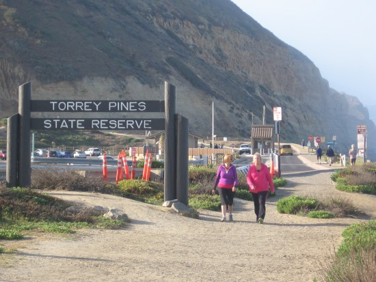 Sign at entrance to Torrey Pines State Reserve.