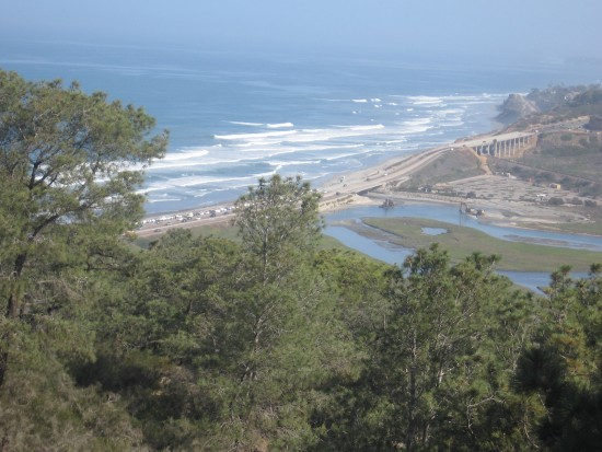 View of lagoon and ocean from High Point Overlook.
