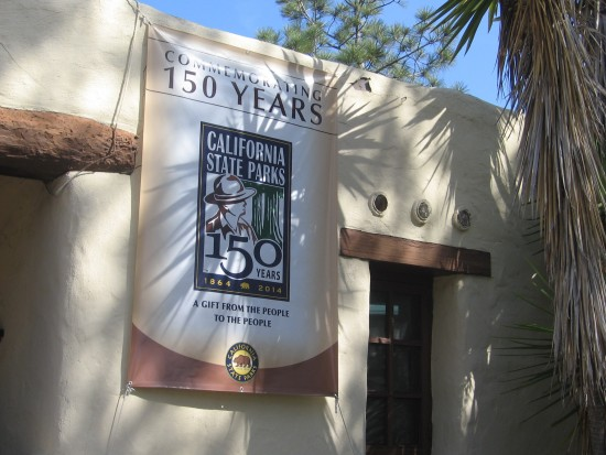 Banner commemorates 150 years of California State Parks.