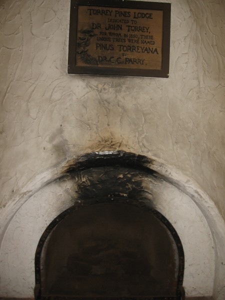 Old fireplace shows decades of use.