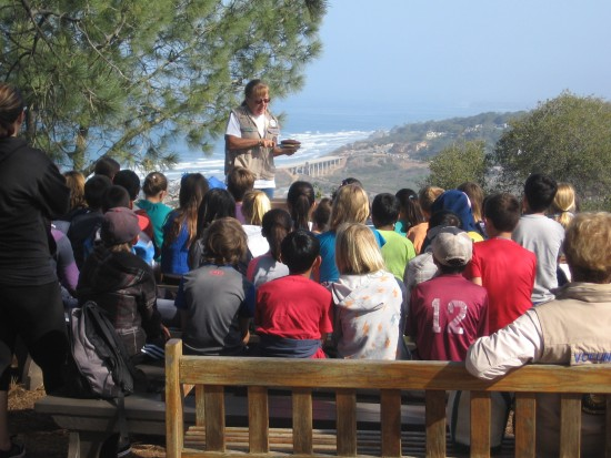 School kids learn about local flora and fauna.