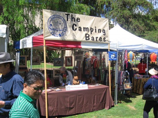 Booth in Balboa Park promotes camping nude.